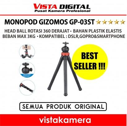 :: GIZOMOS GP-03ST FLEXIBLE OCTOPUS TRIPOD / GURITA MINI TRIPOD (GIZOMOS) - Www.vistakamera.com ::